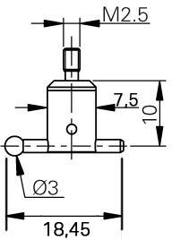 Winkel Tastspitze M2.5